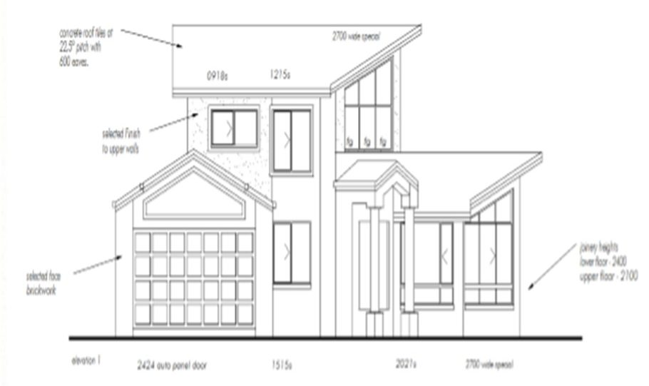 Two Storey Kit Home Plan 251 B 251.59 m2 4 Bed 2 Bath 6